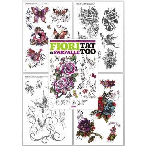 Tattoo Flash Book - Flower&Butterfly Tattoo Book (Fiori&Farfalle Tattoo)