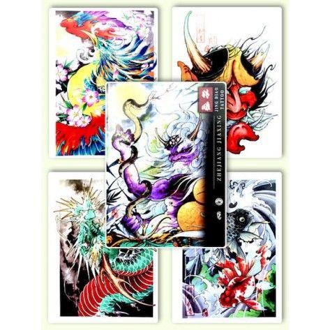 Tattoo Flash book - Jing Diao Tattoo Sketch Book