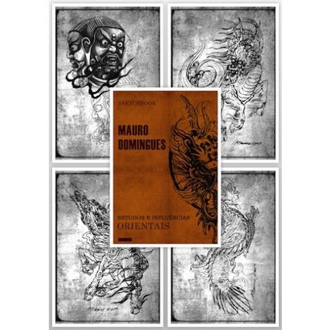 Tattoo Flash Book - Mauro Domingues New Oriental Style Tattoo Sketch Book A