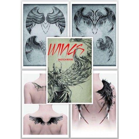 Tattoo Flash Book - The Wings Sketchbook
