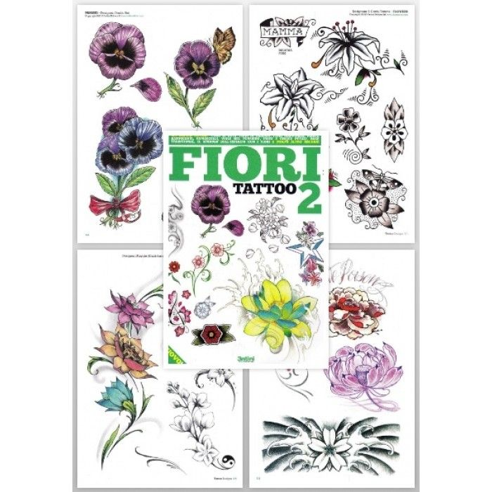 Fiori Tattoo.Tattoo Flash Book Flower Tattoo Book Fiori Tattoo 2
