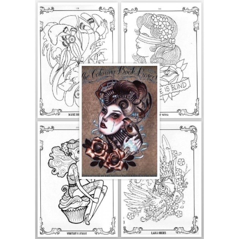 Tattoo Flash Book - The Coloring Book Project: A Collection by 100 ...