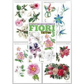 Tattoo Flash Book - Flower Tattoo Book (Fiori Tattoo 3)