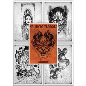 Tattoo Flash Book - Mauro Domingues New Oriental Style Tattoo Sketch Book B