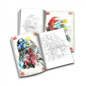 Tattoo book - Tenglong Tattoo Flash Koi