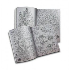 TIBETAN BUDDHISM TATTOO SKETCH FLASH DESIGN ART BOOK VOL.B