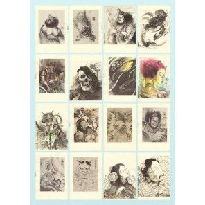 Tattoo Flash Book -Chinese Style Tattoo Design Sketch book by Zhou Xiaodong form Mummy Tattoo Studio